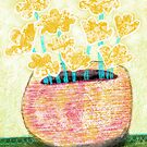 Wall art print Flower Vase C by Beatrice  Ajayi