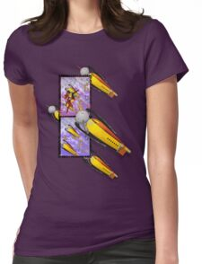 space ship invasion squadron Womens Fitted T-Shirt
