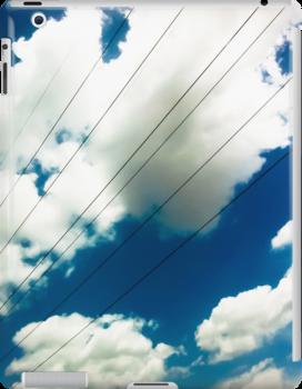 Lines and The Blue Sky [ iPad / iPod / iPhone Case ] by Mauricio Santana
