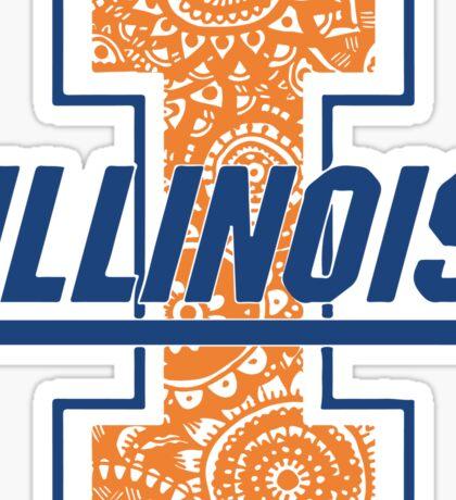 Illini Doodle Sticker