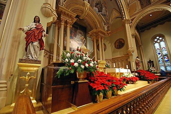 Chancel St. Marys Historic Catholic Church by John Schneider