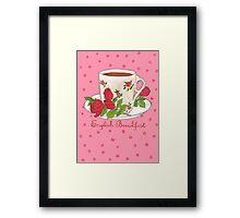 English Breakfast Tea Framed Print