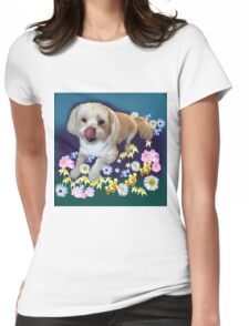 Doggy in the Garden Womens Fitted T-Shirt