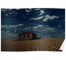 Burra Ruin, Clouds and Stars Poster