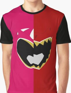 Pink N Red - Dino Charge Graphic T-Shirt