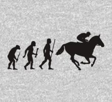 Evolution of Man and Horse Racing by DesignMC