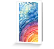 Colours of Space Greeting Card