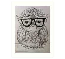 Mondayitis Owl Drawing  Art Print