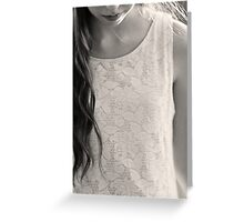 lace dress in black & white Greeting Card
