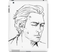 Conman in a white suit iPad Case/Skin