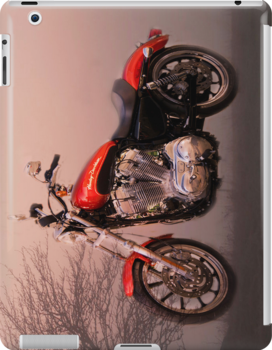 Harley super low Ipad case by Irene  Burdell