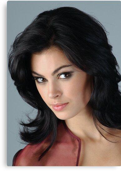 Portrait of sophisticated brunette woman by Anton Oparin