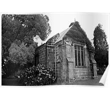 St. Johns Anglican Church. Kincumber. B&W Poster