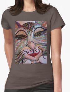 Flirty Funky Feline Womens Fitted T-Shirt