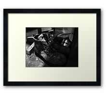 Work Boots Framed Print