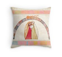 Christmas nativity scene: Jesus Christ , Joseph, Mary Throw Pillow