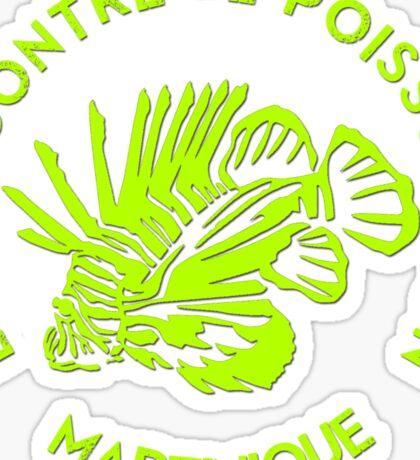 Lutte contre le poisson-lion - Martinique - Fluo Sticker