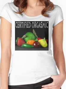 Certified Orgasmic Women's Fitted Scoop T-Shirt