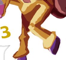 Girafarig Hopping - Pokemon Sticker