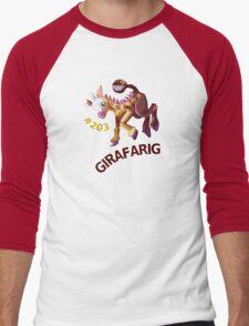 Girafarig Hopping - Pokemon Men's Baseball ¾ T-Shirt