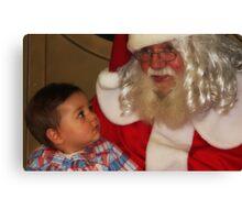 """It's my First Christmas Santa ! "" Canvas Print"
