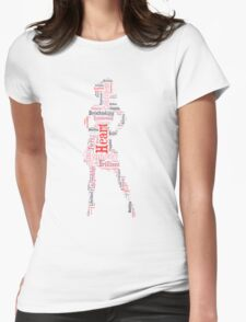 Confident female Womens Fitted T-Shirt