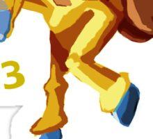 Shiny Girafarig Hopping - Pokemon Sticker