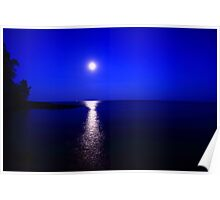 Moon over Superior Poster