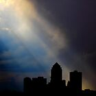 Angle Rays over Des Moines by Scott Canfield