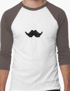 Pixel Mustache Men's Baseball ¾ T-Shirt