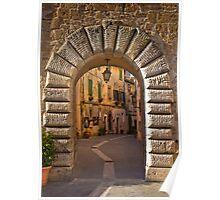 Gateway to Sorano, Tuscany Poster