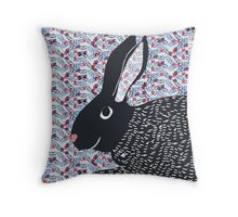 Bunny print Throw Pillow