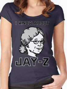 I Know About JAY-Z! Women's Fitted Scoop T-Shirt