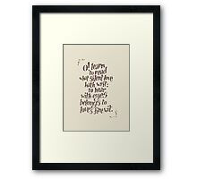 Sonnet 23 Framed Print