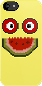Happy Pixel Melon by mumblebug