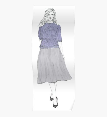 Lilac Knit Poster