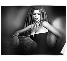 Lust In Black And White Goth Pinup Poster