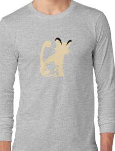 Meowth Persian Evolution Long Sleeve T-Shirt