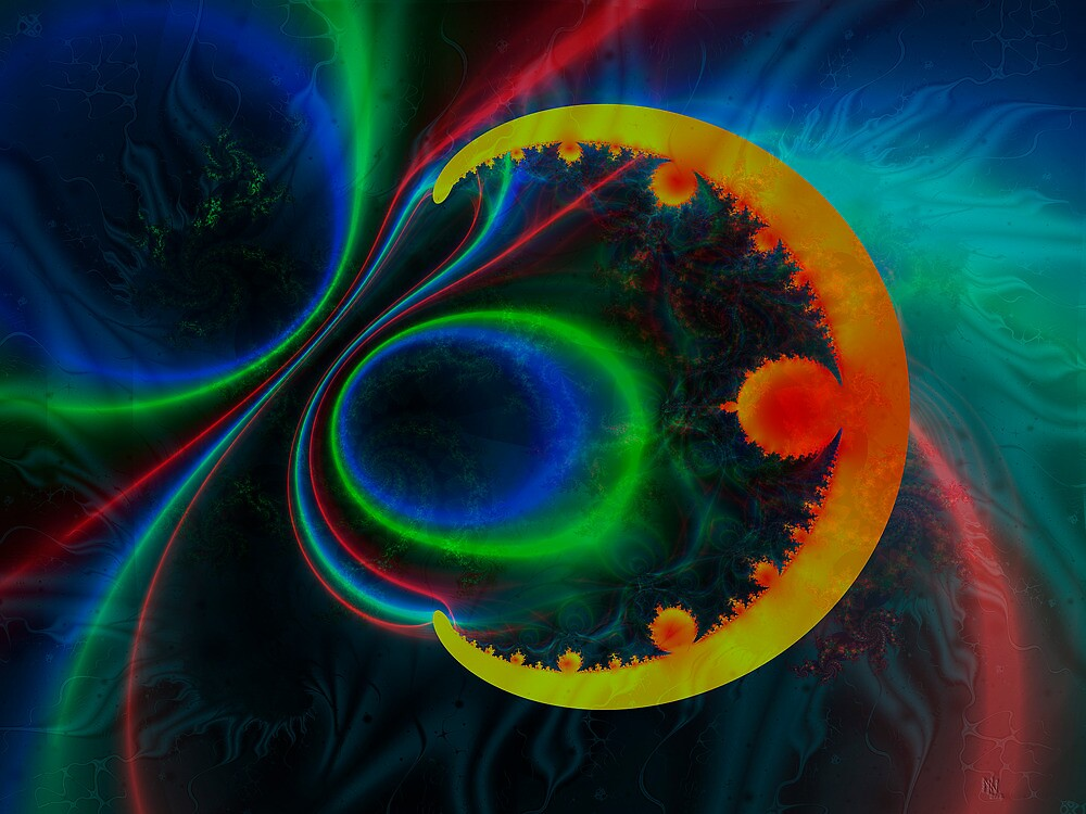 colorful magnetic field by NafetsNuarb