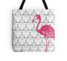 Flamingo de Jouy Tote Bag