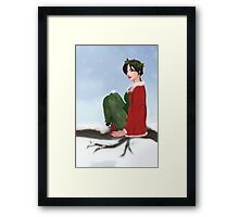 The Holly Queen Framed Print