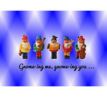 Gnome-ing me, gnome-ing you... Photographic Print