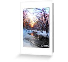 Snowy Sangamon River, Champaign County, IL Greeting Card