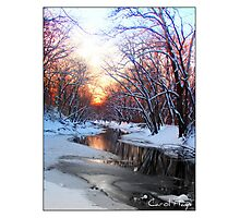 Snowy Sangamon River, Champaign County, IL Photographic Print