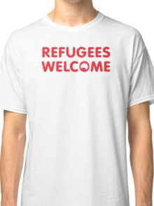 Refugees Welcome Australia (Red) Classic T-Shirt