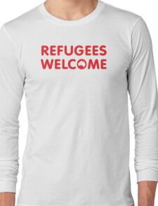 Refugees Welcome Australia (Red) Long Sleeve T-Shirt