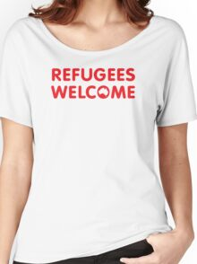 Refugees Welcome Australia (Red) Women's Relaxed Fit T-Shirt