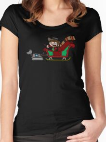 Timelord Santa! Women's Fitted Scoop T-Shirt