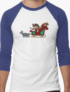 Timelord Santa! Men's Baseball ¾ T-Shirt