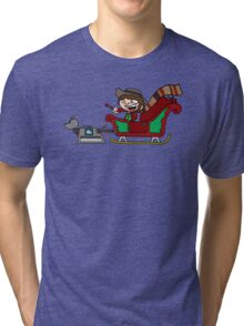 Timelord Santa! Tri-blend T-Shirt